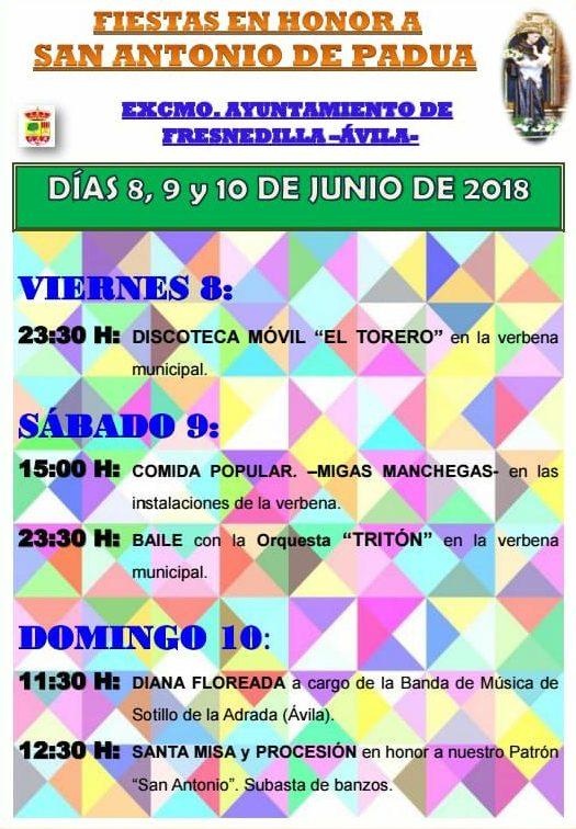 Programa Fiestas San Antonio de Padua ,Fresnedilla